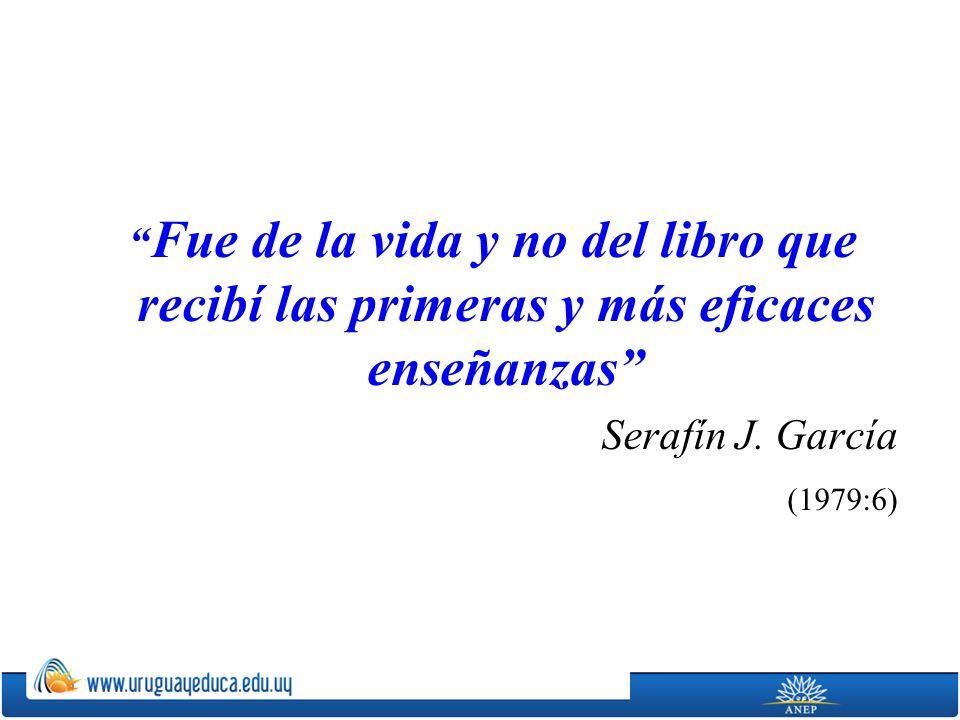 Fue de la vida y no del libro que recibí las primeras y más eficaces enseñanzas Serafín J.