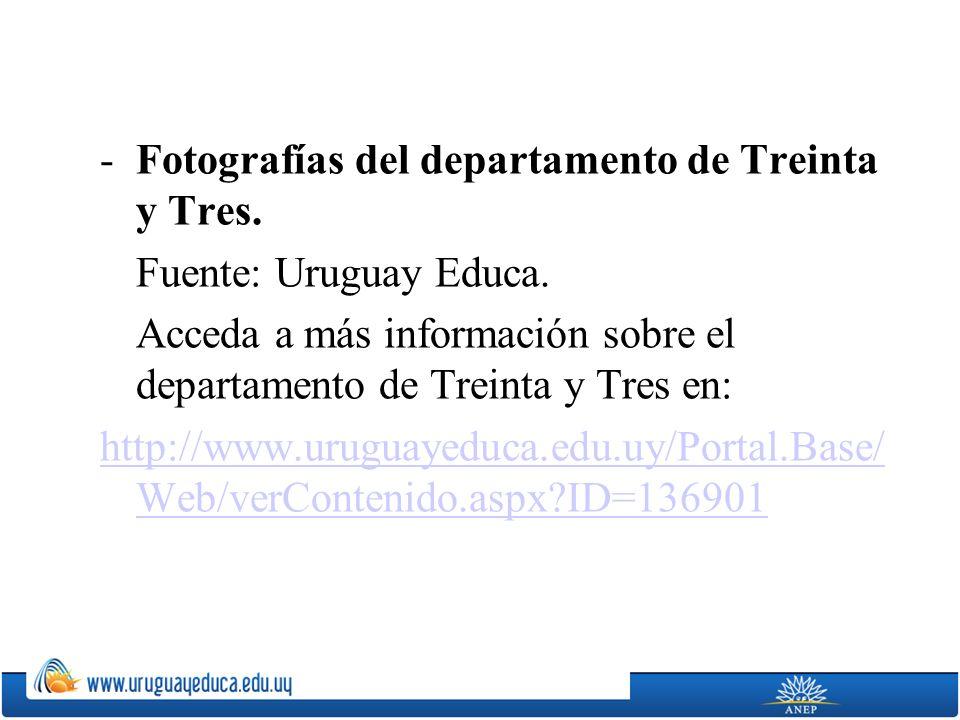 Fotografías del departamento de Treinta y Tres.