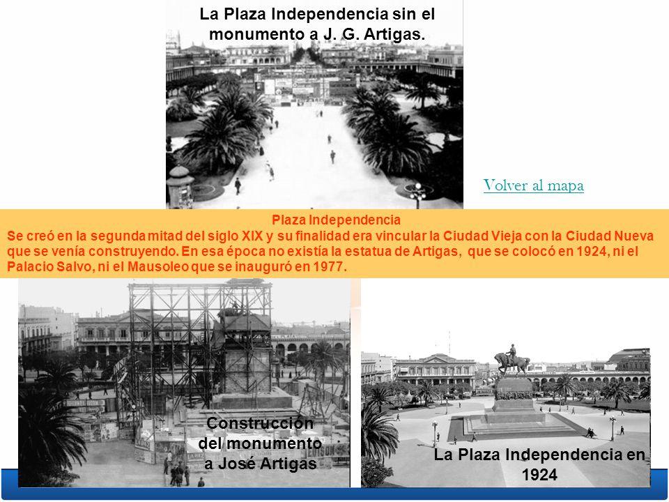 La Plaza Independencia sin el monumento a J. G. Artigas.