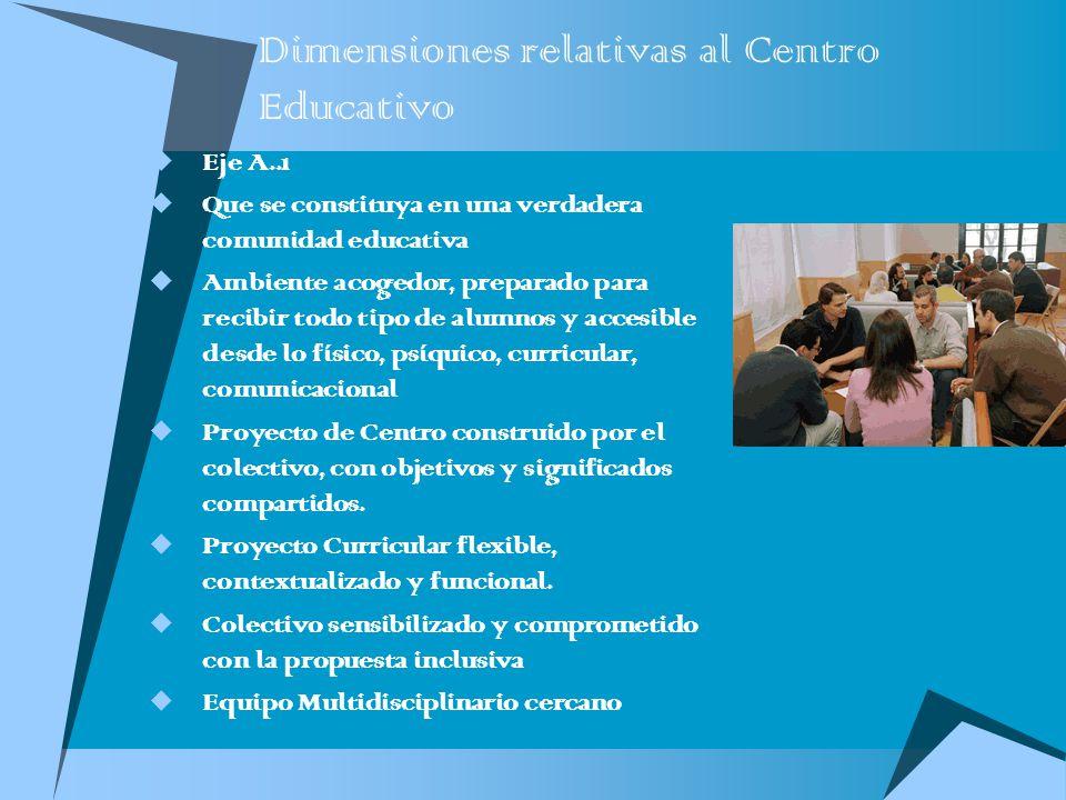 Dimensiones relativas al Centro Educativo