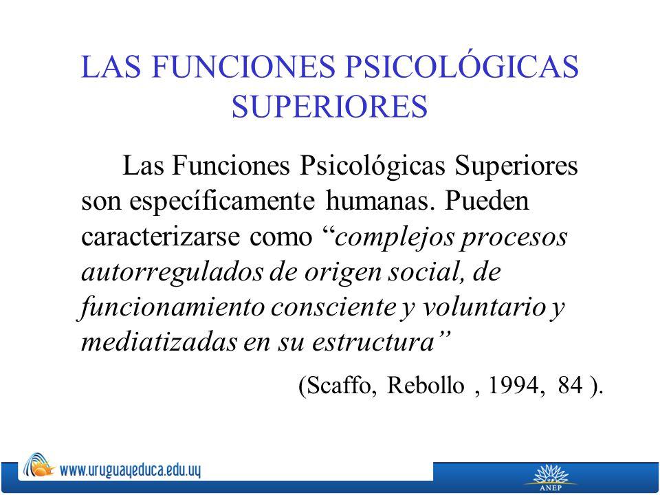 LAS FUNCIONES PSICOLÓGICAS SUPERIORES