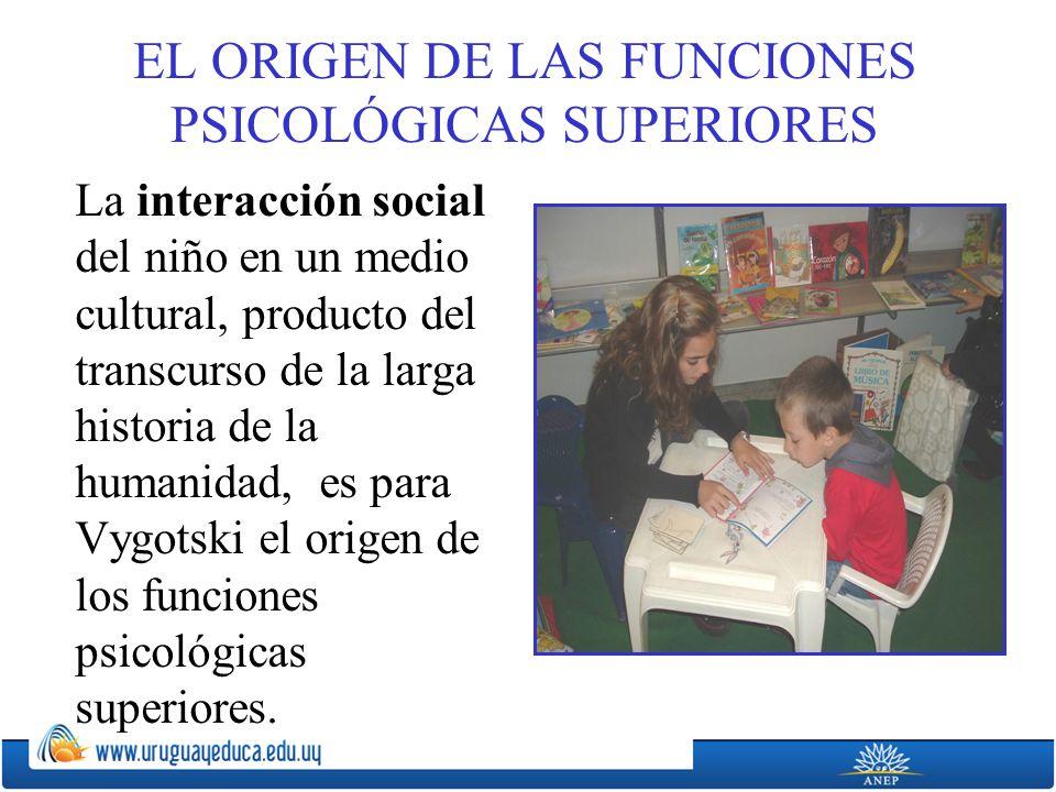 EL ORIGEN DE LAS FUNCIONES PSICOLÓGICAS SUPERIORES