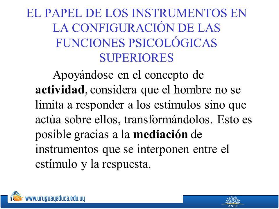 EL PAPEL DE LOS INSTRUMENTOS EN LA CONFIGURACIÓN DE LAS FUNCIONES PSICOLÓGICAS SUPERIORES