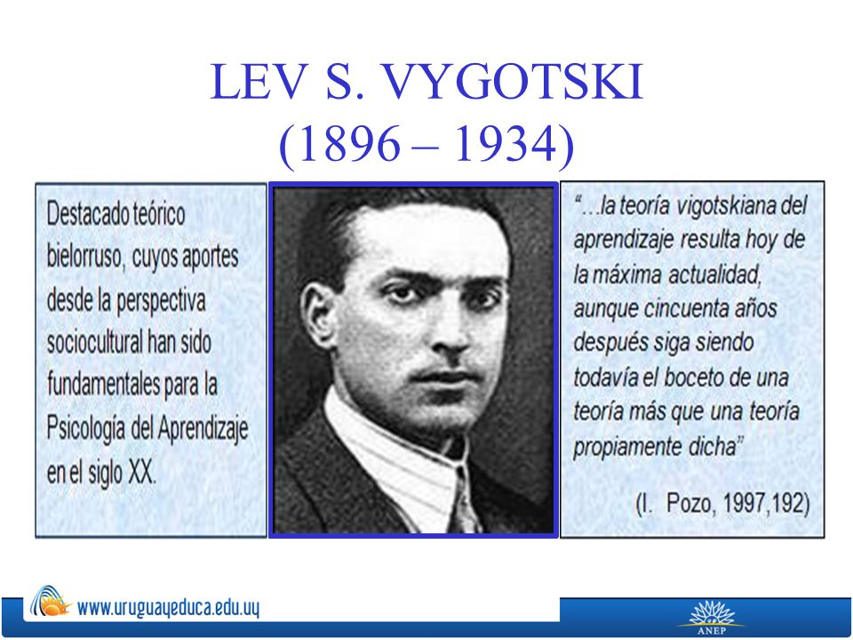 LEV S. VYGOTSKI (1896 – 1934)