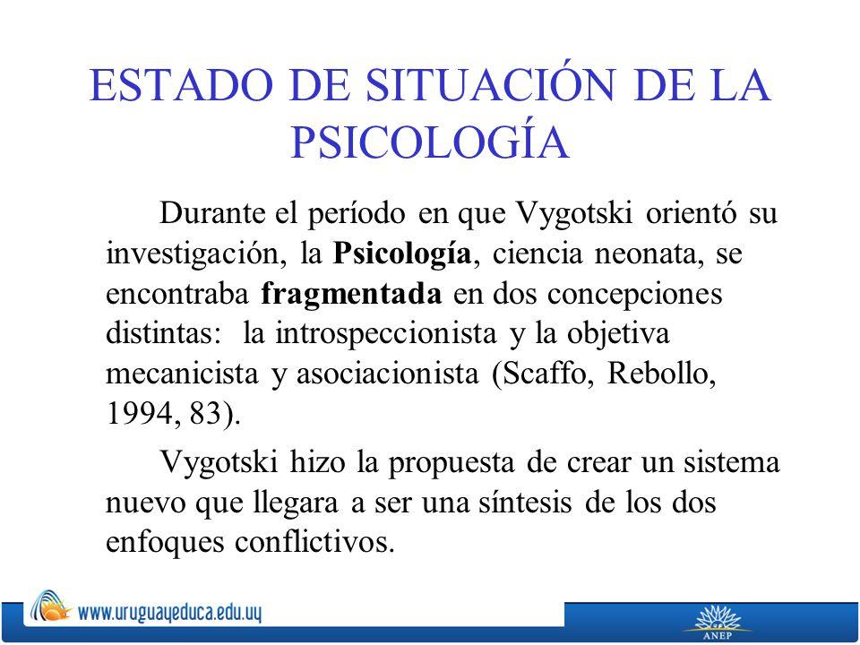 ESTADO DE SITUACIÓN DE LA PSICOLOGÍA