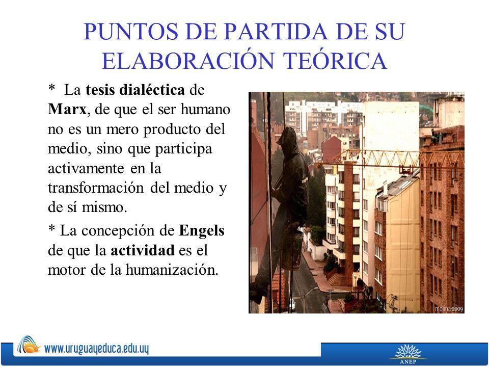 PUNTOS DE PARTIDA DE SU ELABORACIÓN TEÓRICA