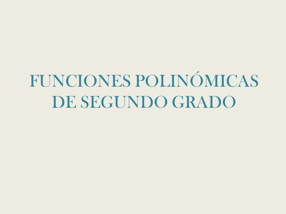 FUNCIONES POLINÓMICAS DE SEGUNDO GRADO