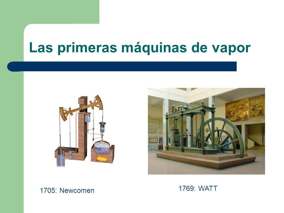 Las primeras máquinas de vapor