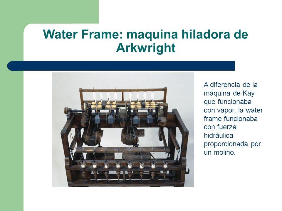 Water Frame: maquina hiladora de Arkwright