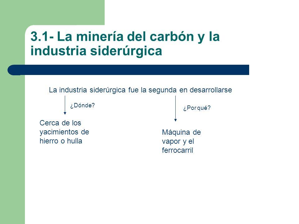 3.1- La minería del carbón y la industria siderúrgica