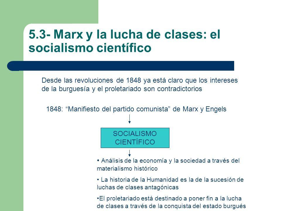 5.3- Marx y la lucha de clases: el socialismo científico