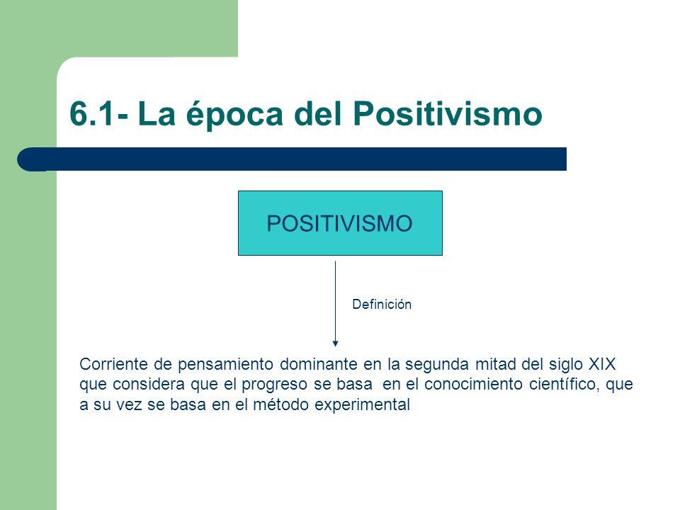 6.1- La época del Positivismo