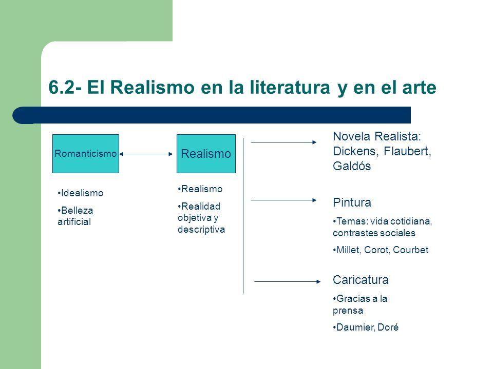 6.2- El Realismo en la literatura y en el arte