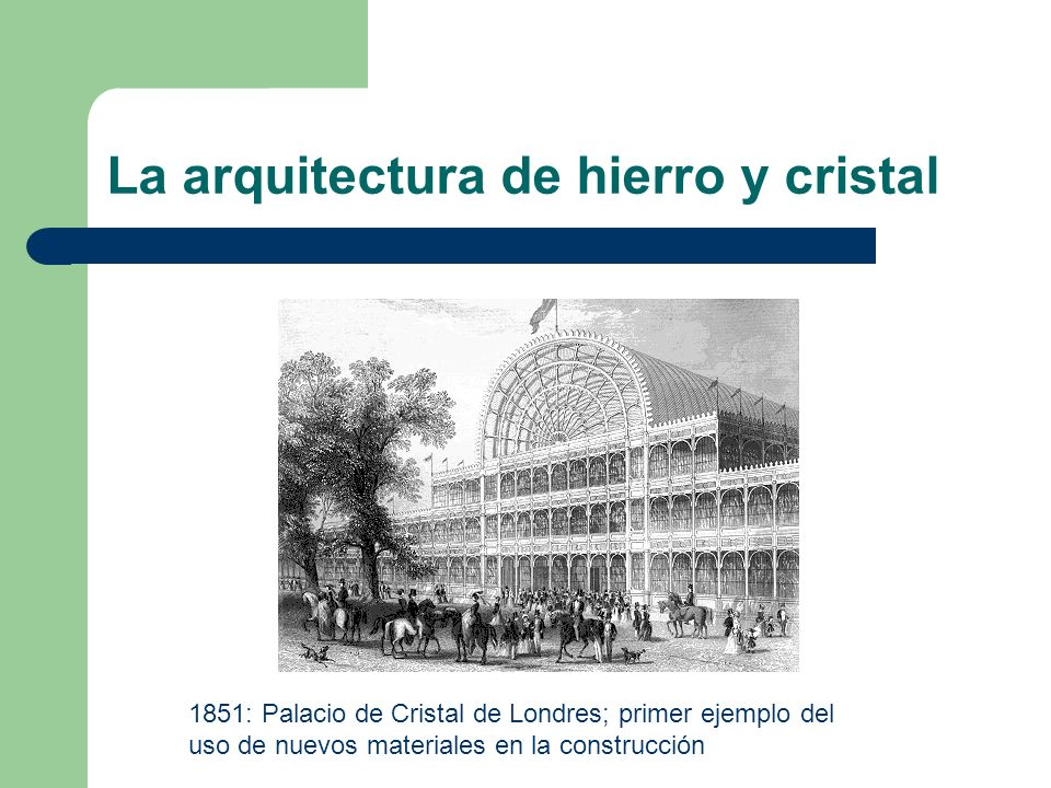 La arquitectura de hierro y cristal