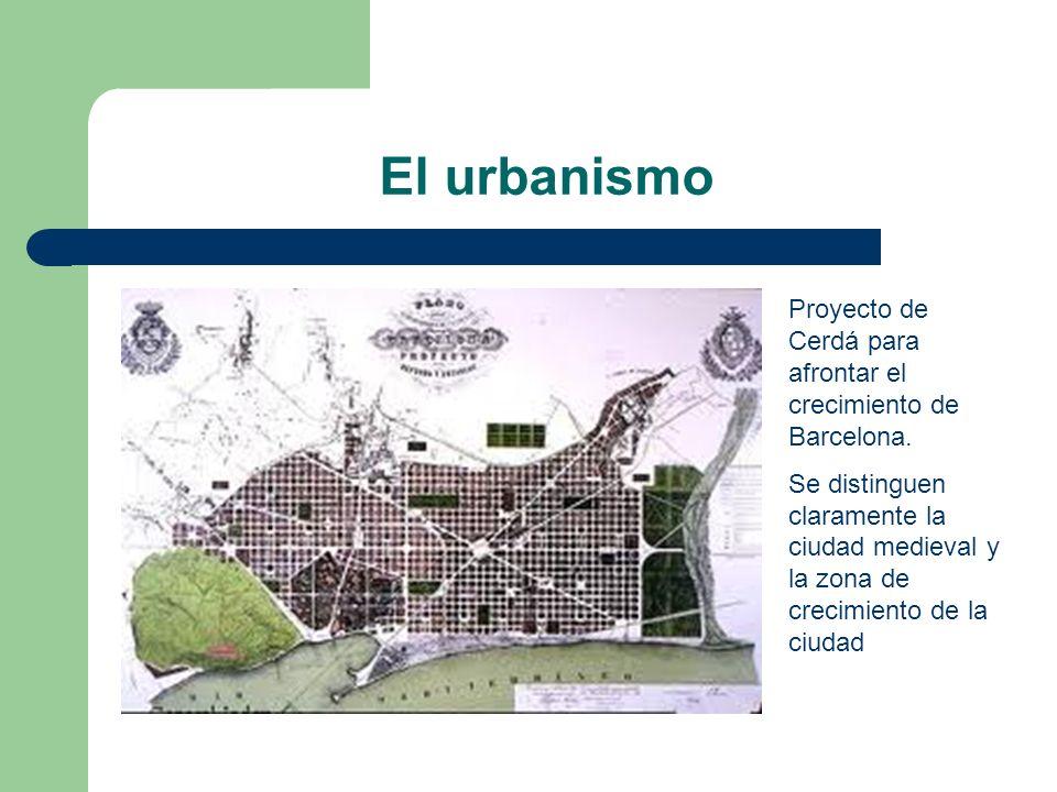 El urbanismoProyecto de Cerdá para afrontar el crecimiento de Barcelona.
