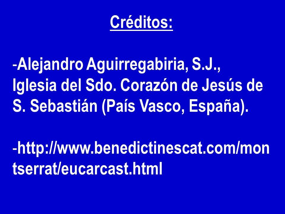 Créditos: Alejandro Aguirregabiria, S.J., Iglesia del Sdo. Corazón de Jesús de S. Sebastián (País Vasco, España).