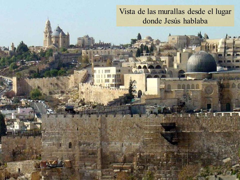 Vista de las murallas desde el lugar donde Jesús hablaba
