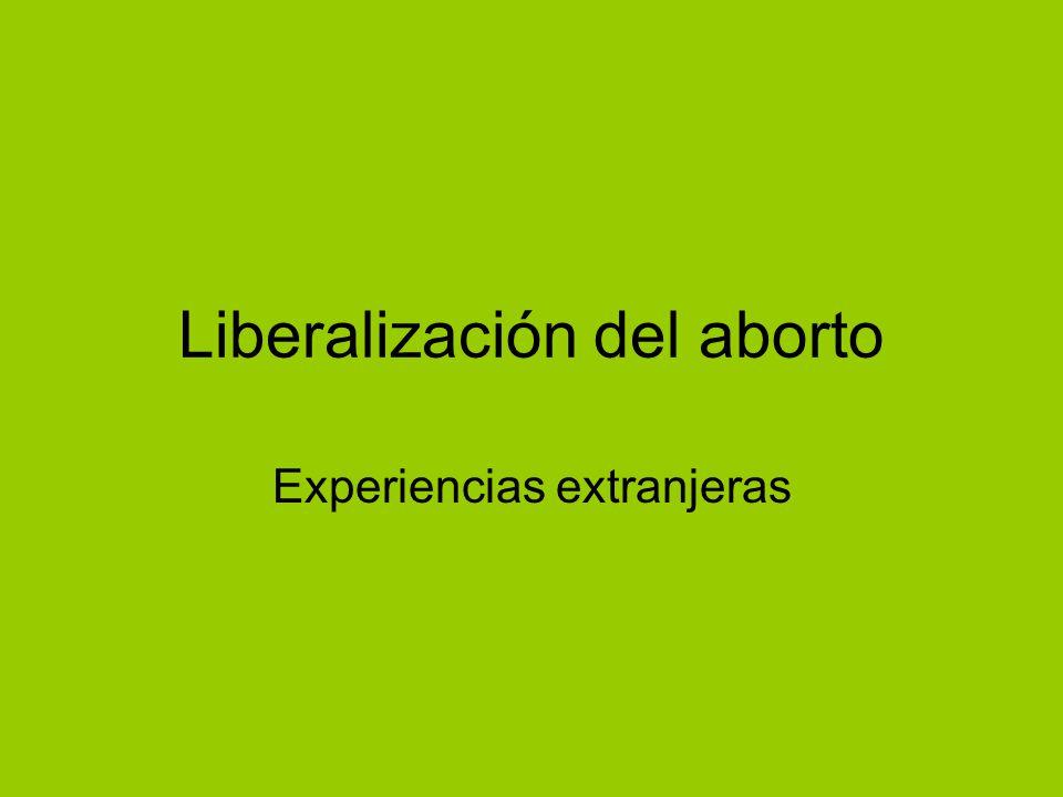 Liberalización del aborto