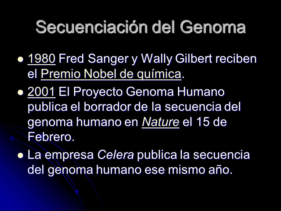 Secuenciación del Genoma