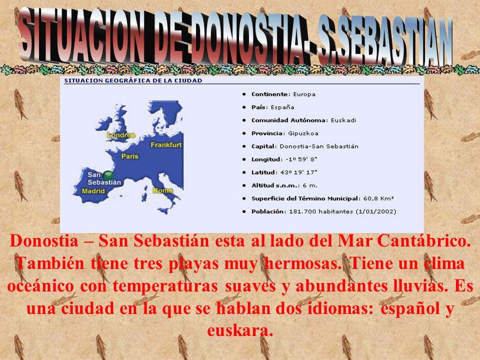 SITUACION DE DONOSTIA- S.SEBASTIAN