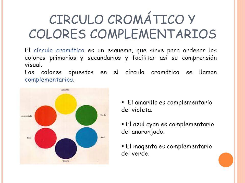 CIRCULO CROMÁTICO Y COLORES COMPLEMENTARIOS