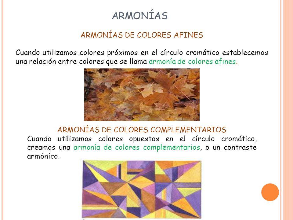 ARMONÍAS ARMONÍAS DE COLORES AFINES