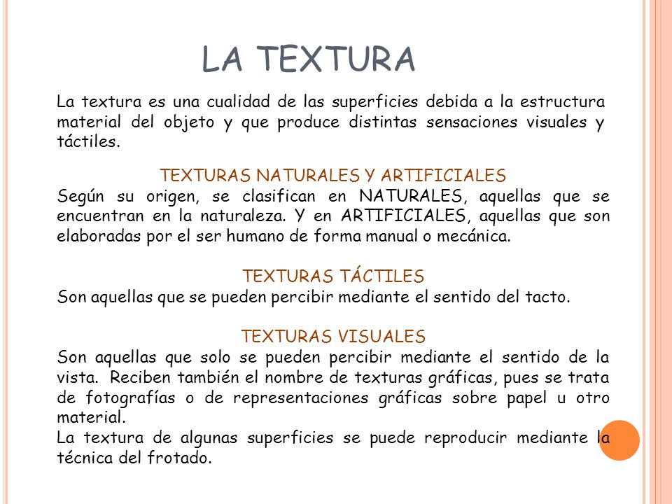TEXTURAS NATURALES Y ARTIFICIALES