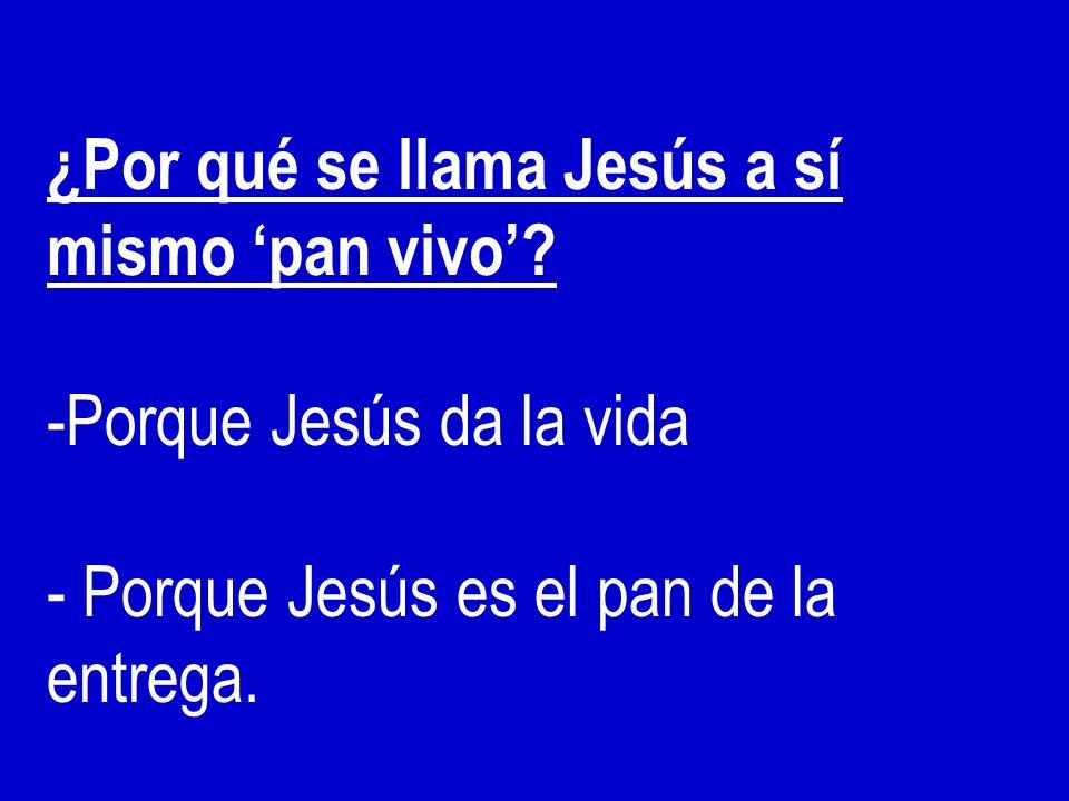¿Por qué se llama Jesús a sí mismo 'pan vivo'