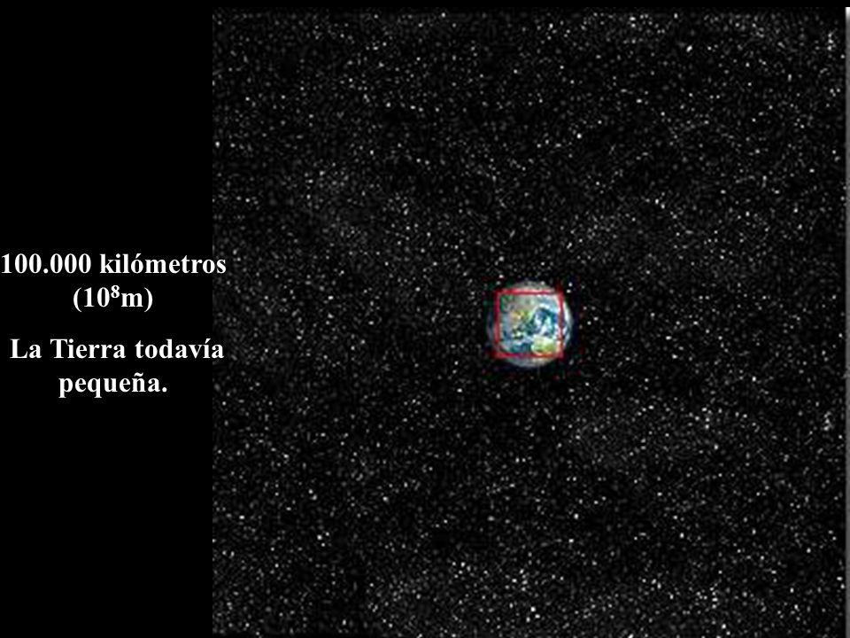 La Tierra todavía pequeña.