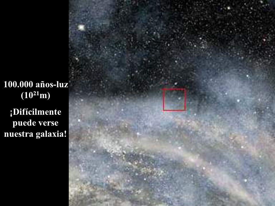 ¡Difícilmente puede verse nuestra galaxia!