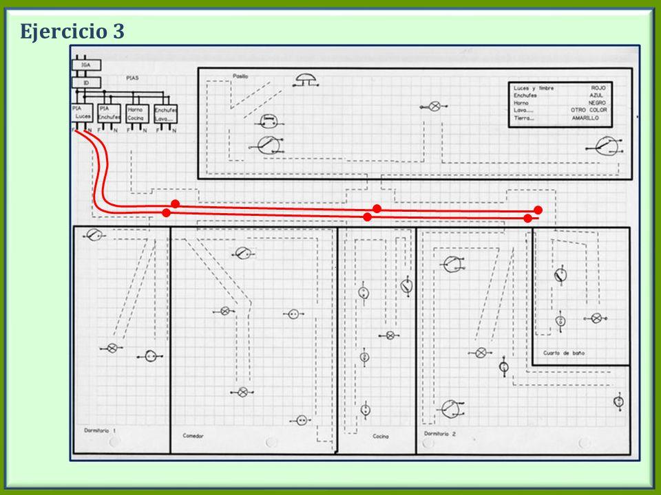 Ejercicio 3 Dibujar en la pizarra los circuitos de luces. Desde PIA luces.