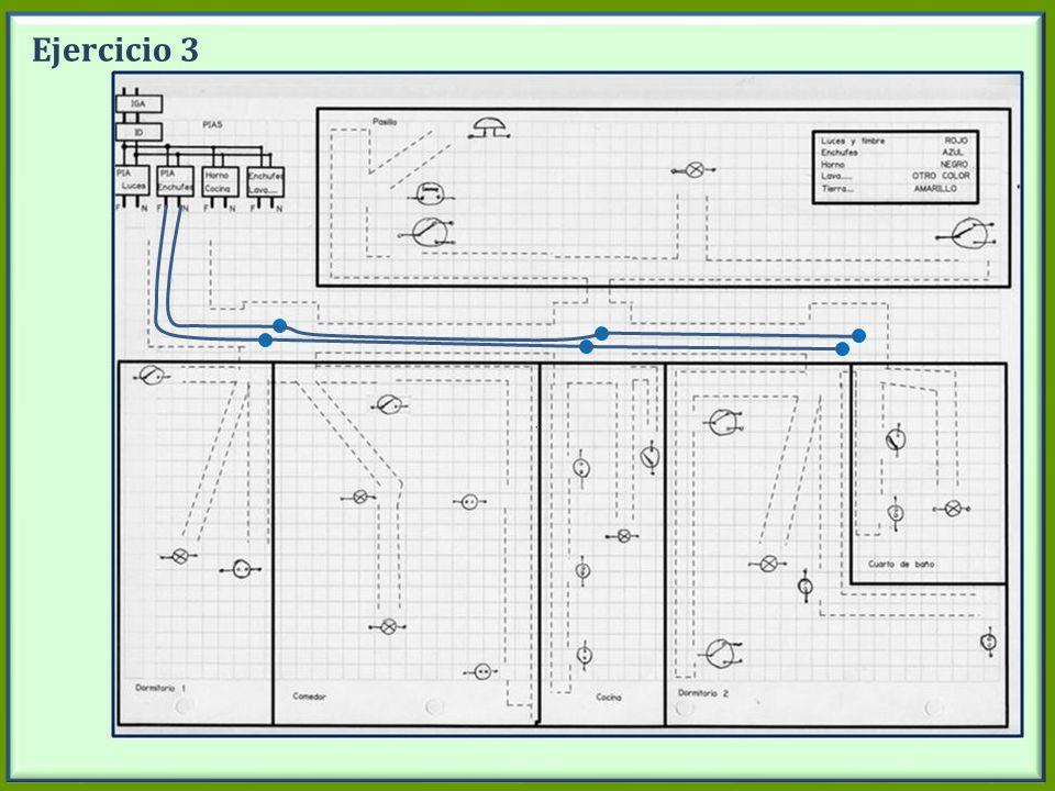 Ejercicio 3 Dibujar en la pizarra los circuitos de los enchufes . (desde PIA enchufes)