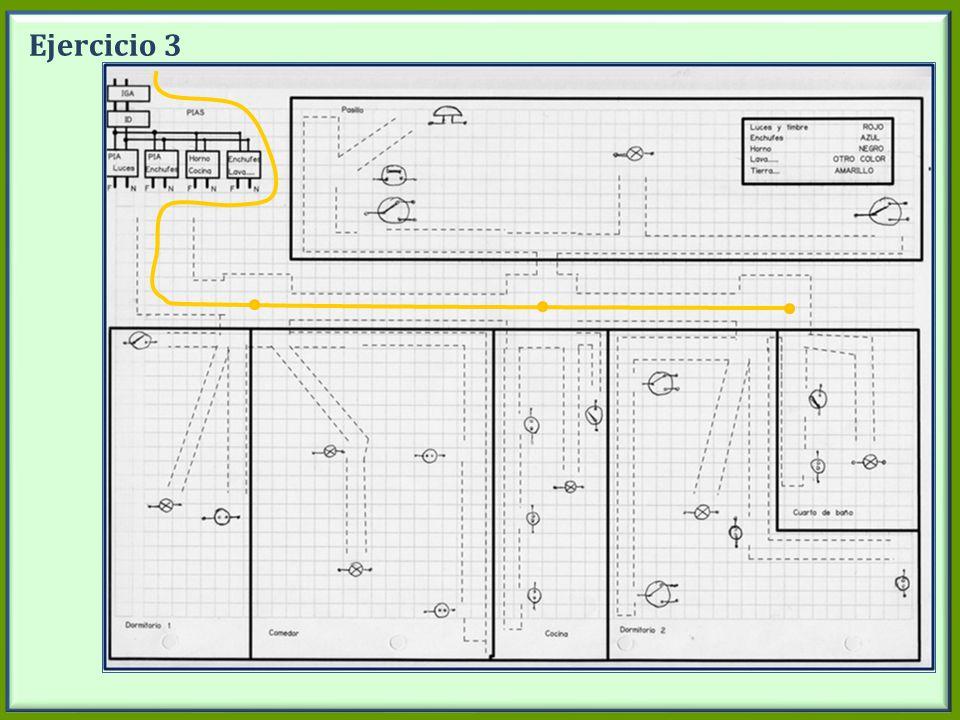 Ejercicio 3 Dibujar en la pizarra los circuitos de la toma de tierra.