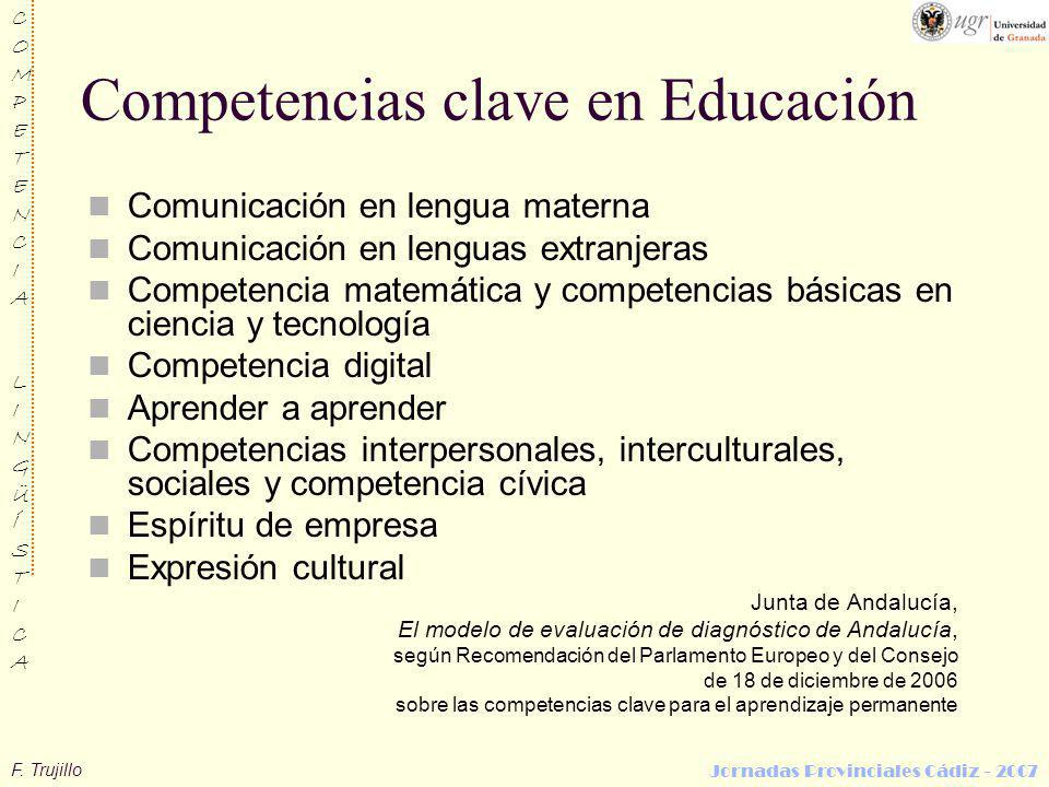 Competencias clave en Educación