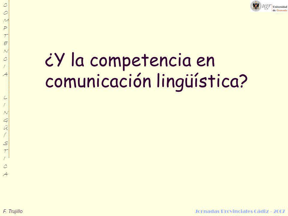 ¿Y la competencia en comunicación lingüística