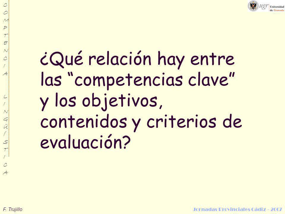 ¿Qué relación hay entre las competencias clave y los objetivos, contenidos y criterios de evaluación