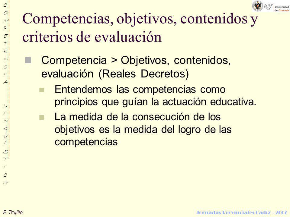 Competencias, objetivos, contenidos y criterios de evaluación