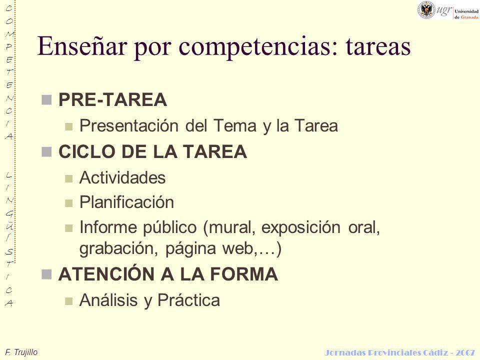 Enseñar por competencias: tareas
