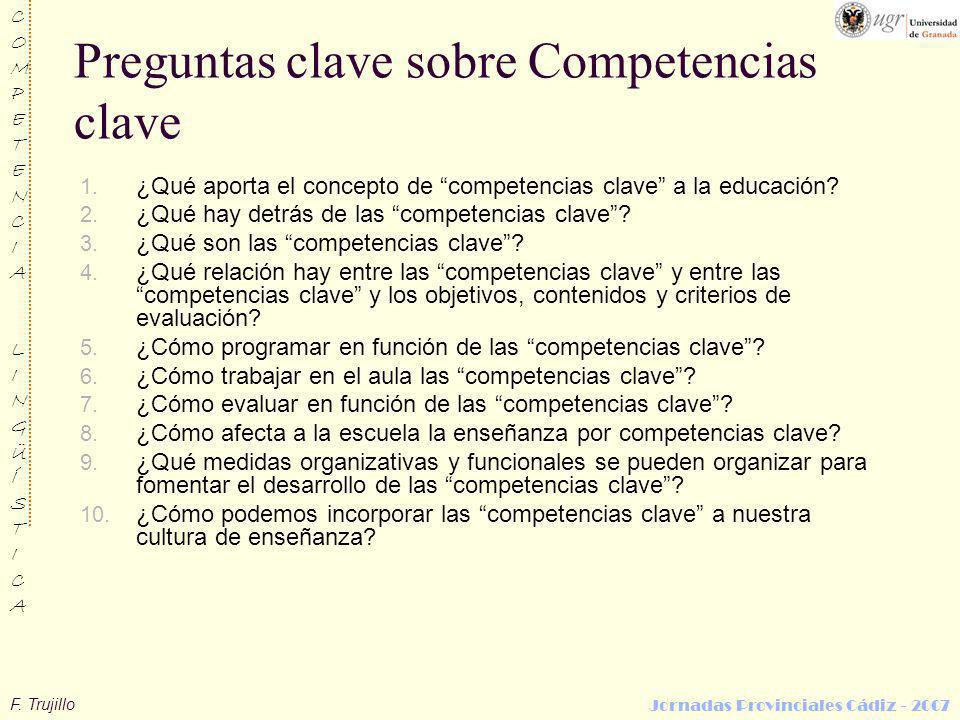 Preguntas clave sobre Competencias clave