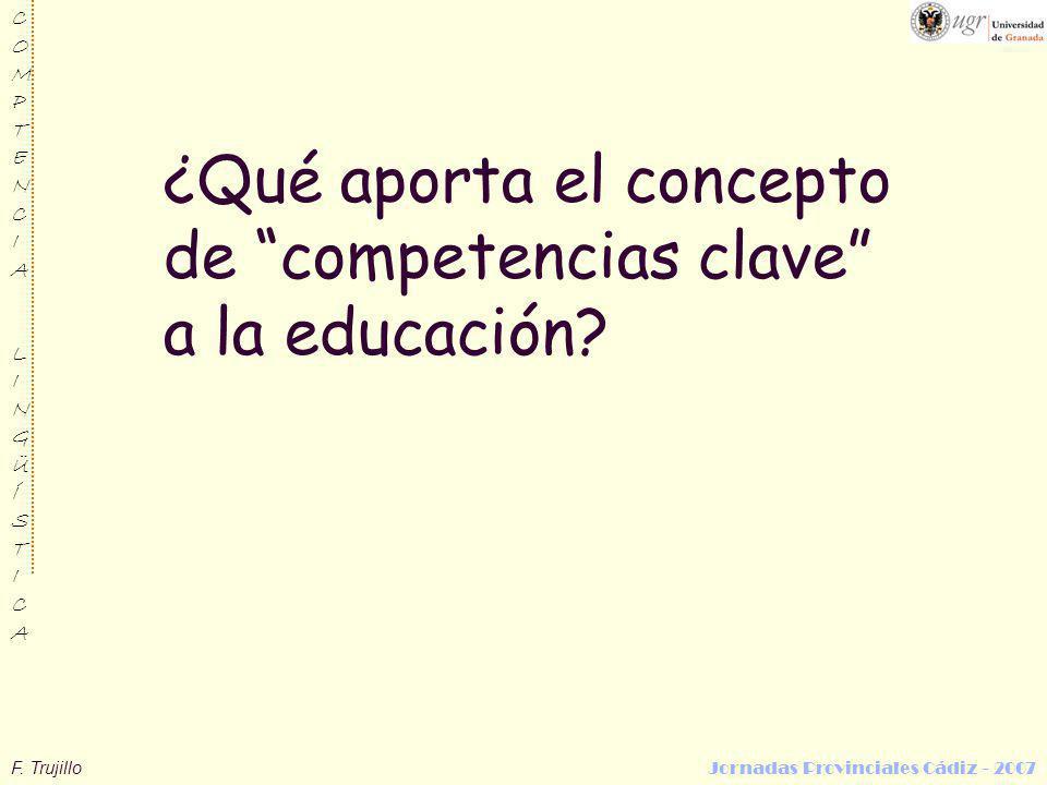 ¿Qué aporta el concepto de competencias clave a la educación