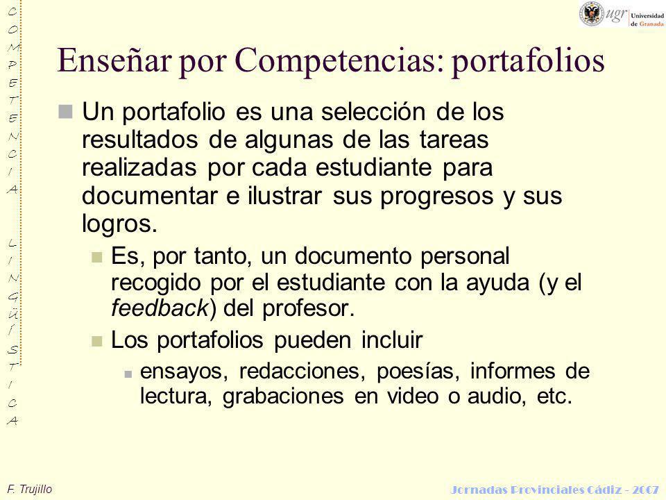 Enseñar por Competencias: portafolios