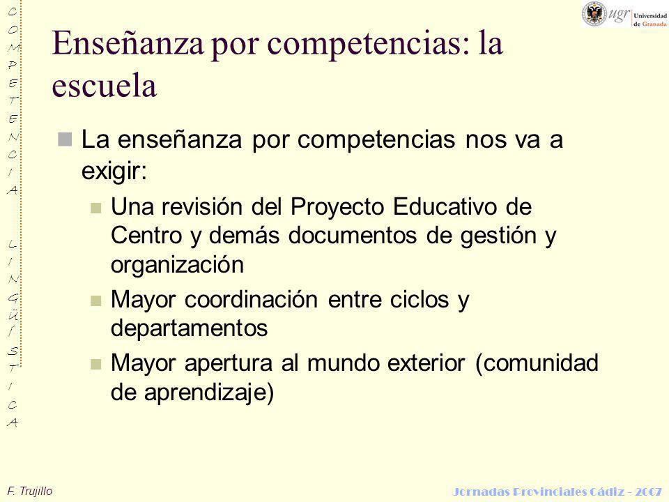 Enseñanza por competencias: la escuela