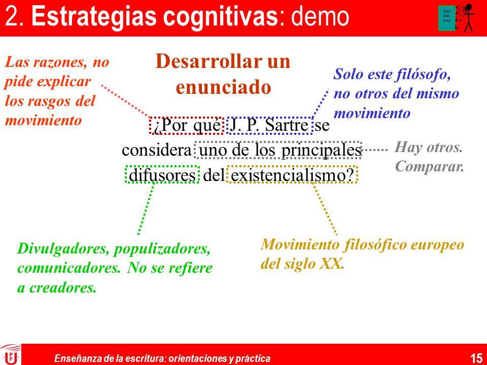 2. Estrategias cognitivas: demo