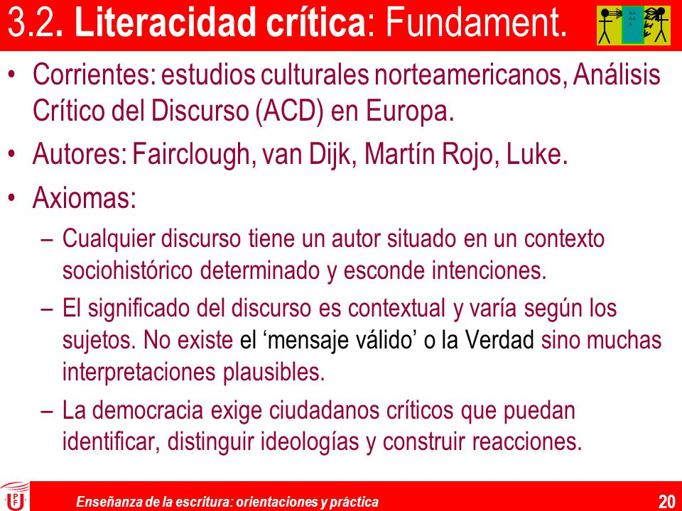 3.2. Literacidad crítica: Fundament.