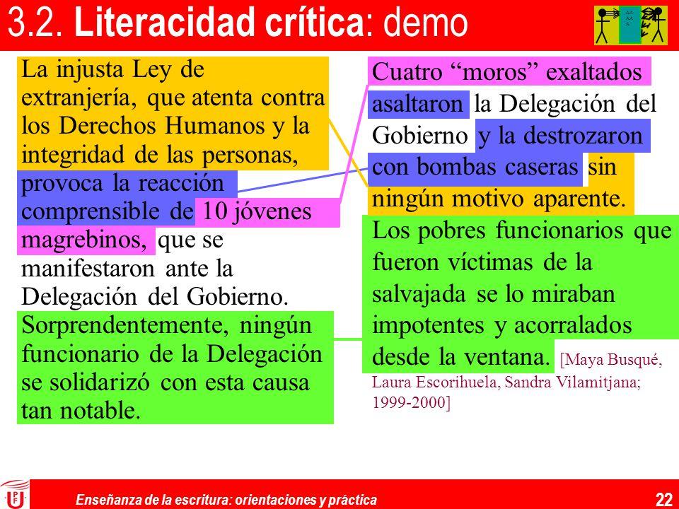 3.2. Literacidad crítica: demo