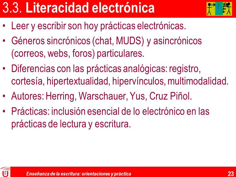 3.3. Literacidad electrónica