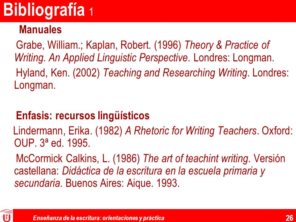 Enseñanza de la escritura: orientaciones y práctica