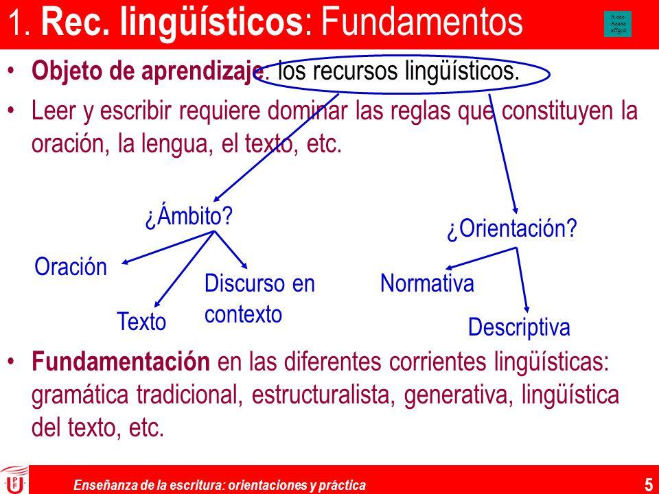 1. Rec. lingüísticos: Fundamentos