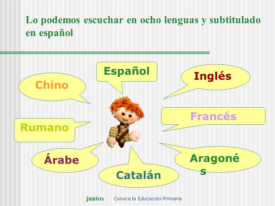 Lo podemos escuchar en ocho lenguas y subtitulado en español