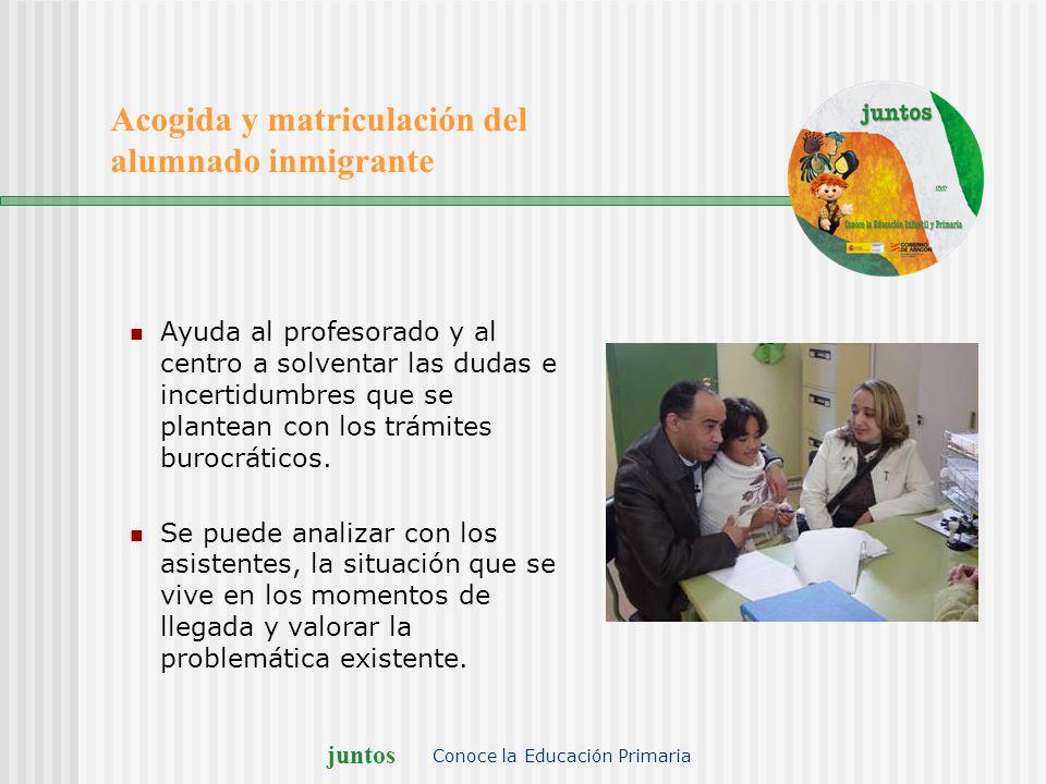 Acogida y matriculación del alumnado inmigrante